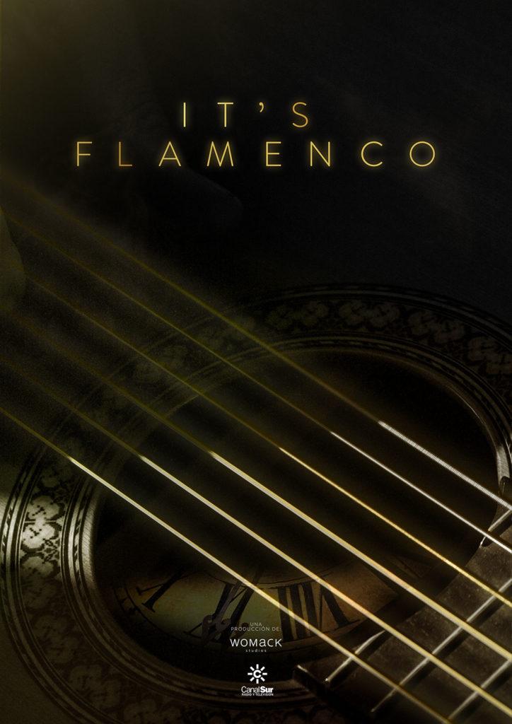 Cartel oficial It's Flamenco. Una producción Womack Studios.